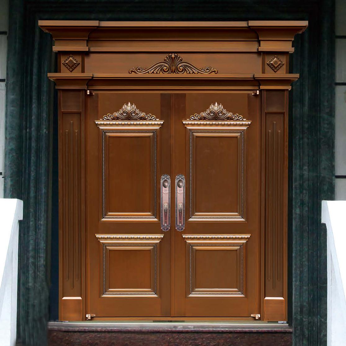 豪华双开铜门  8247