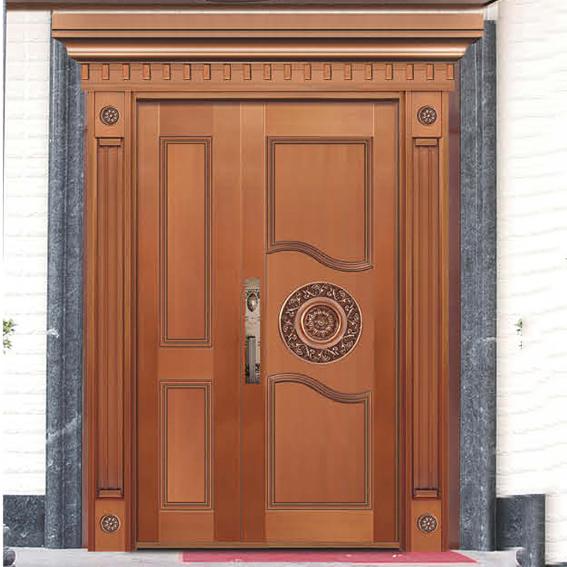 奢华子母铜门 8325
