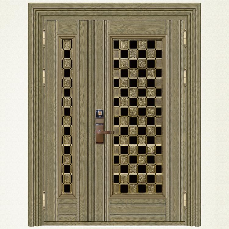 759-8青古铜木纹子母门