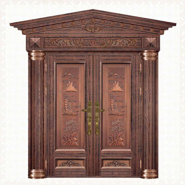 5064-8红古铜树芯纹板双开14皇冠头1罗马柱