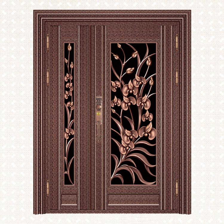 568-8红古铜整齐自由纹板子母门