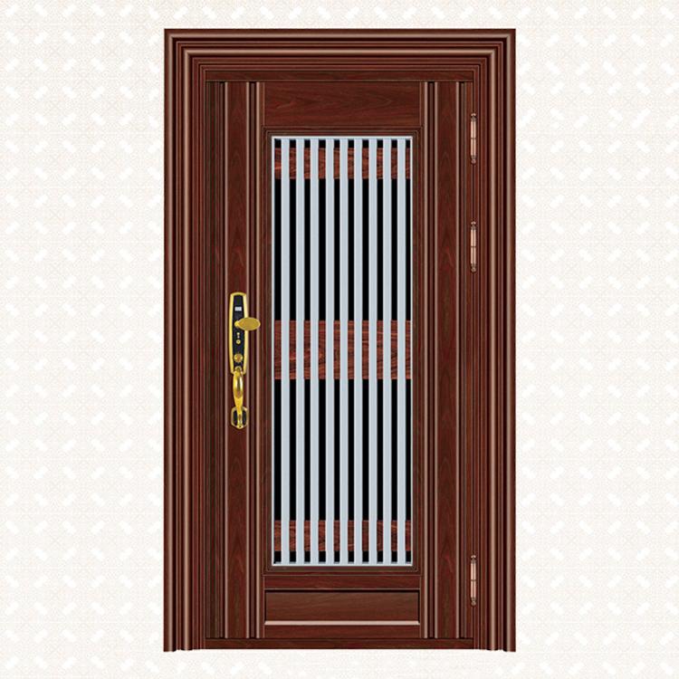 583-6实木红橡板单门