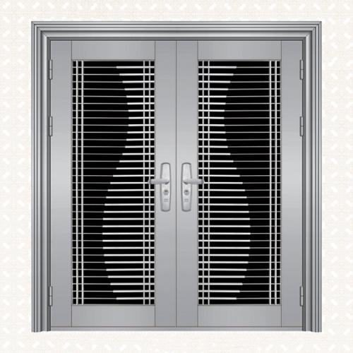 不锈钢板双开门118-1