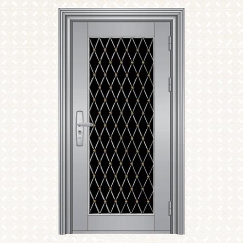 不锈钢板单门011-8(实心钢)