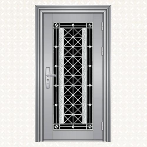 不锈钢板压花门008-2