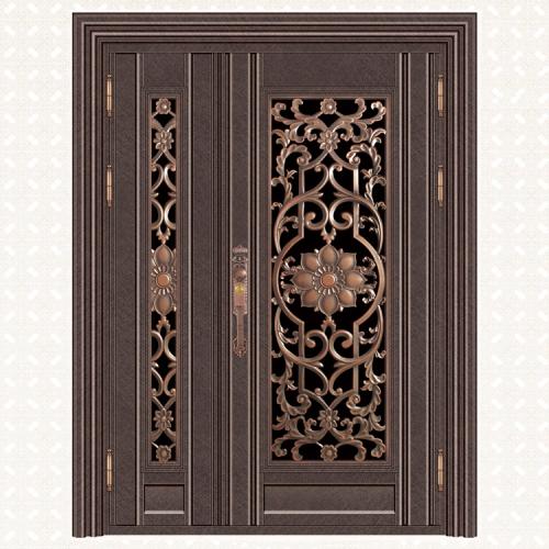 5070-8缅甸咖啡布纹板子母门