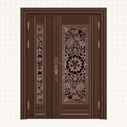 5069-8红古铜拉丝深色板子母门