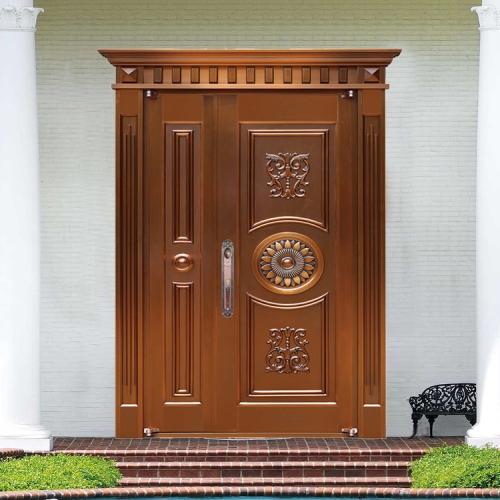 珠海子母别墅铜门 8308