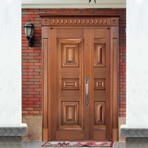 珠海子母别墅铜门 8322