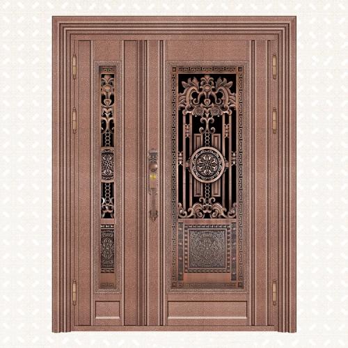 5056-8红古铜蛇皮纹板子母门