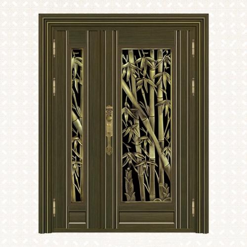5019-8青古铜拉丝深色板子母门