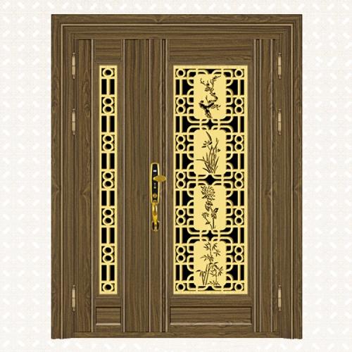 810-5金木纹板子母门