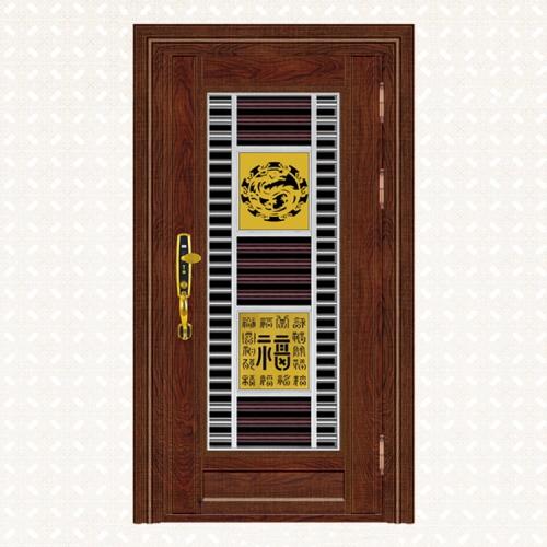643-5实木锯齿红橡板单门