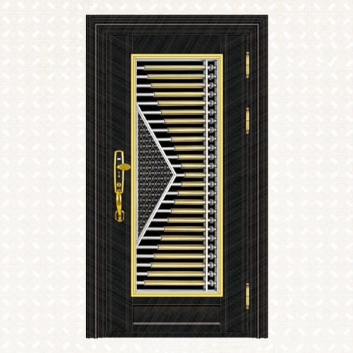 639-5黑钛金交叉纹板单门