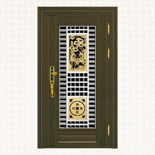 629-5青古铜拉丝深色板单门