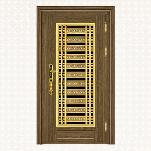 624-4B金木纹板单门