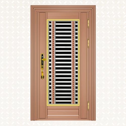 618-4玫瑰金拉丝板单门