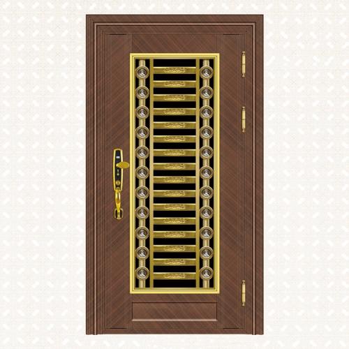 616-7B玫瑰交叉纹板单门