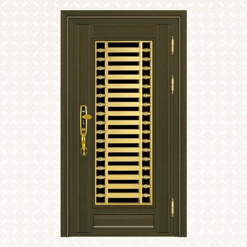 613-4青古铜拉丝深色板单门
