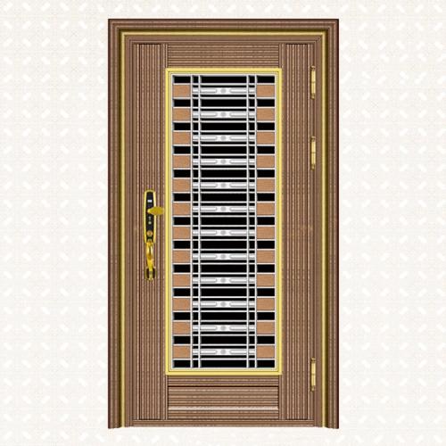 600-4玫瑰金直纹雪花板单门