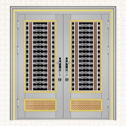 不锈钢240拉丝板双开门596-4A(下池封编织板)