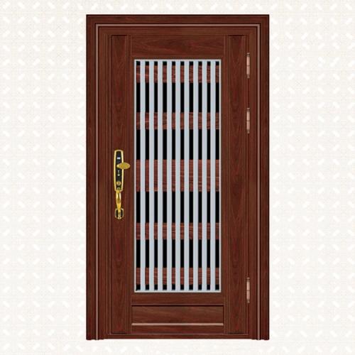 582-6实木红橡板单门