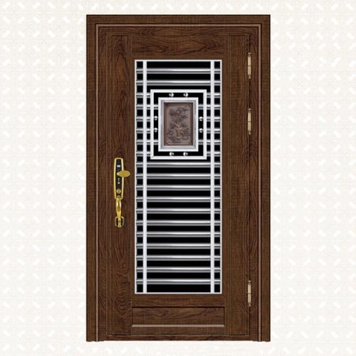 430S-7实木锯齿黄橡板单门