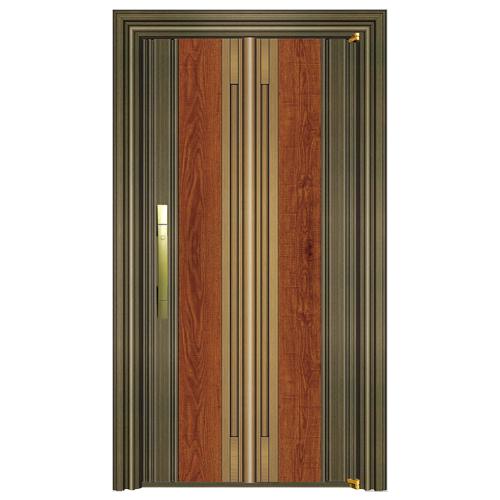 799-8青古铜拉丝(深色)+实木锯齿黄橡+黄古铜拉丝(深色)单门