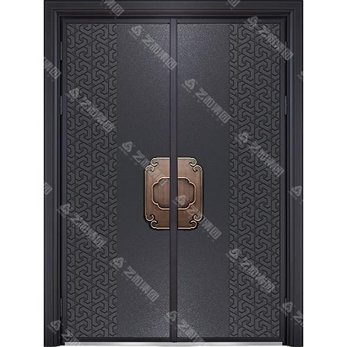 精雕装甲门系列7091(双开门)