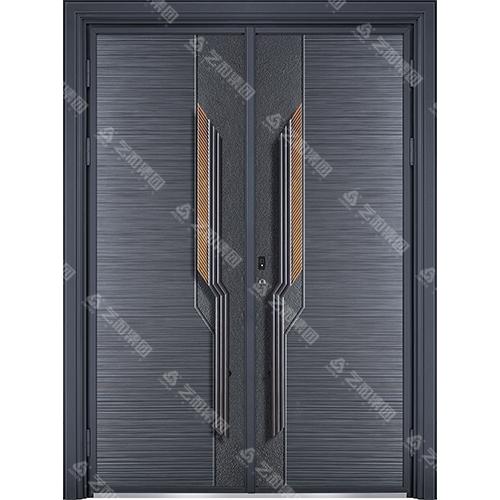 精雕装甲门系列7093(双开门)