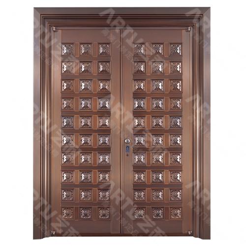 双开别墅铜门8459