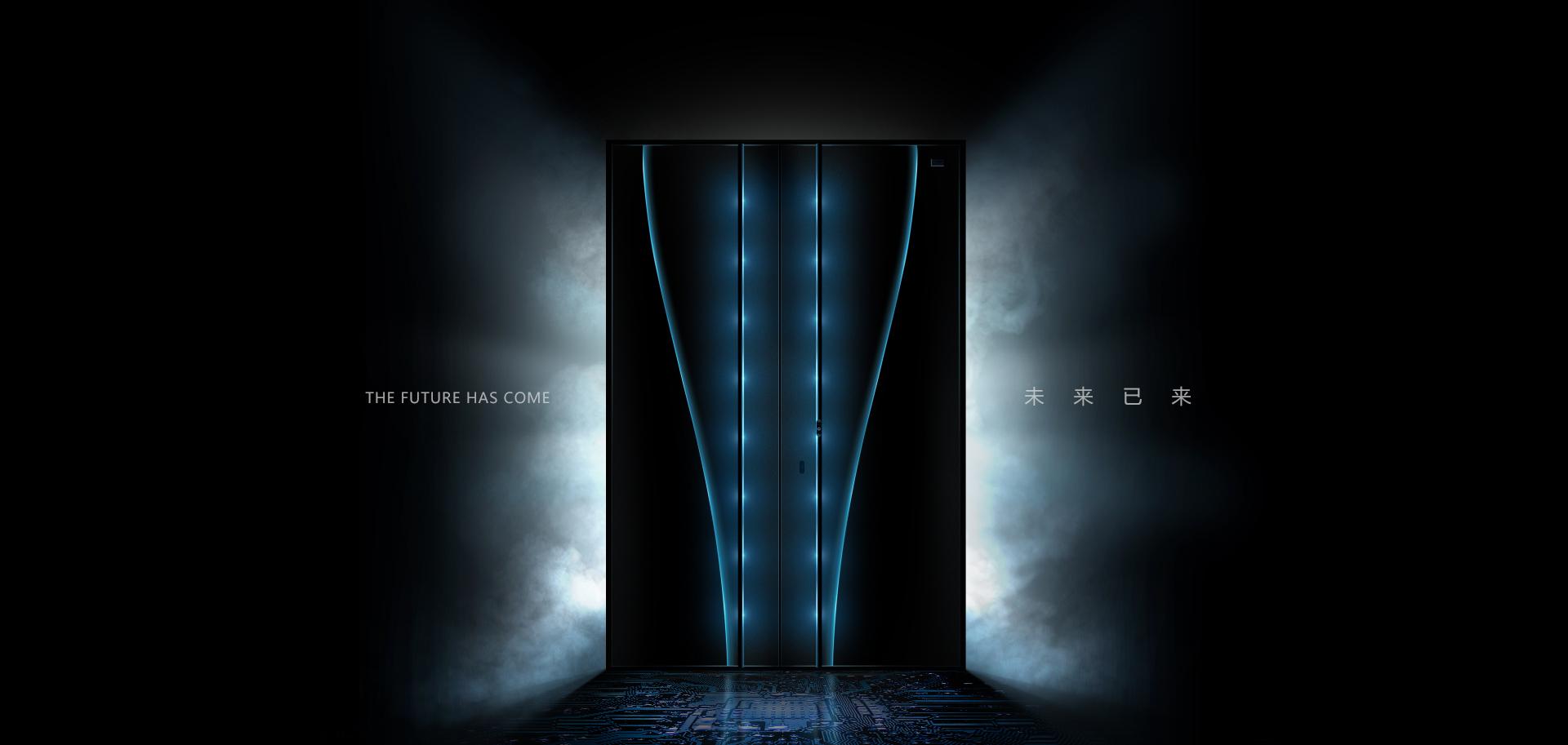 智能静音入户门
